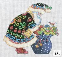 Needlepoint Canvas: Forest Santa