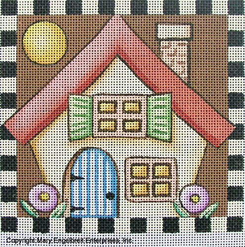 Needlepoint Canvas: Thanksgiving Cottage