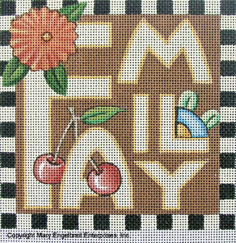Needlepoint Canvas: Family
