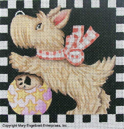 Needlepoint Canvas: Scottie with Ball