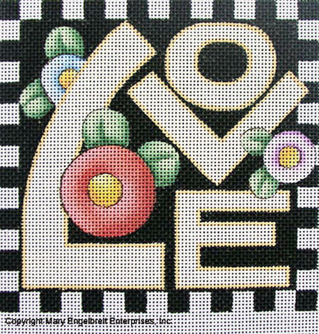 Needlepoint Canvas: Love