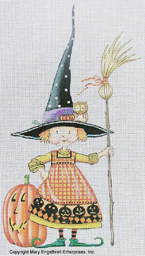 Needlepoint Canvas: Teeny Witch