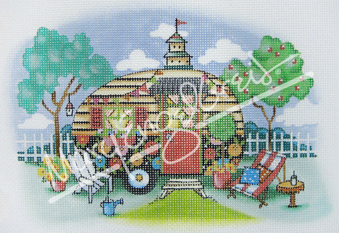 Needlepoint Canvas: Campmobile