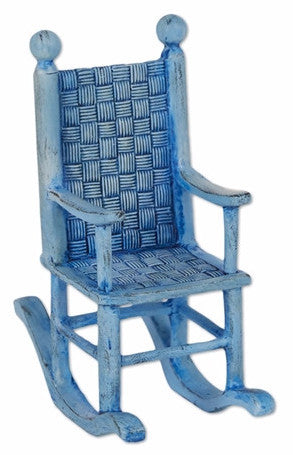 Mini Blue Rocking Chair