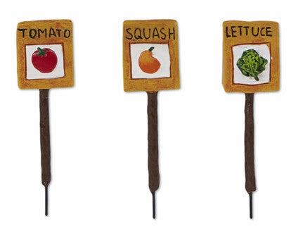 Mini Veggie Garden Markers set