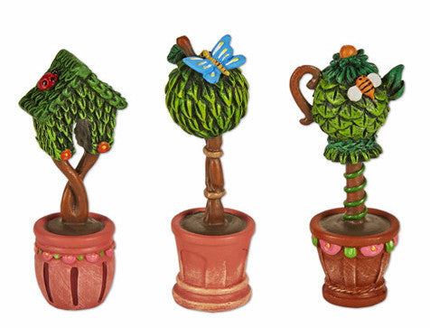 Mini Potted Topiaries set