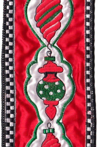 Ornaments Red Christmas Ribbon