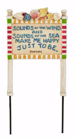 Mini Sounds of the Wind Beach Sign