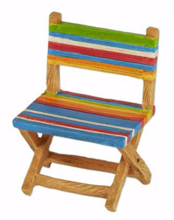 Mini Multi Colored Stripe Beach Chair