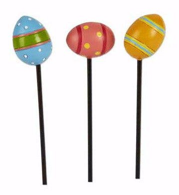 Mini Happy Easter Egg Picks set