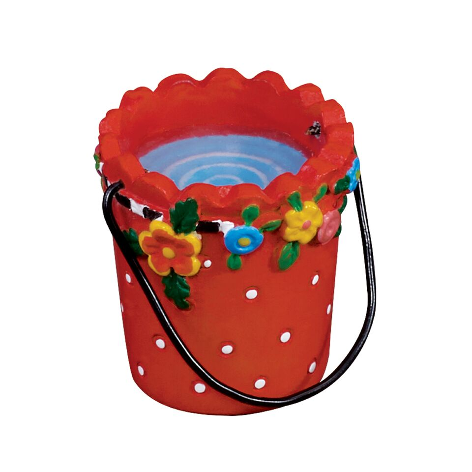 mini red pail w water mary engelbreit