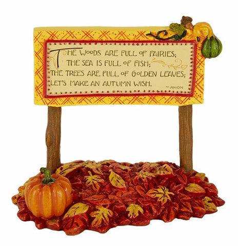 Mini Autumn Wish Sign