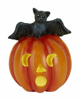Mini Jack O' Lantern with Bat