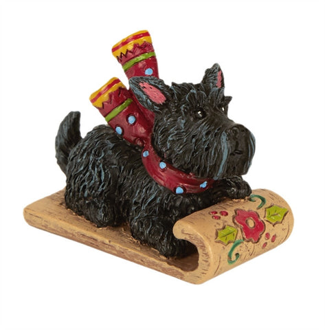 Mini Scottie on Sled