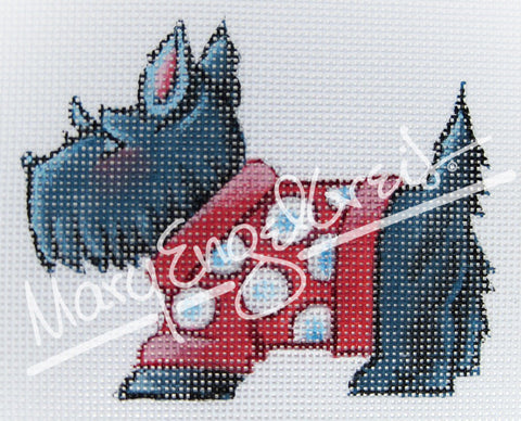 Needlepoint Canvas: Scottie in Sweater
