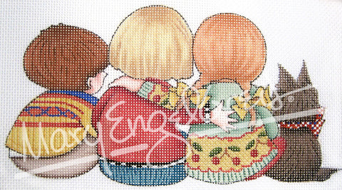 Needlepoint Canvas: Watching Together