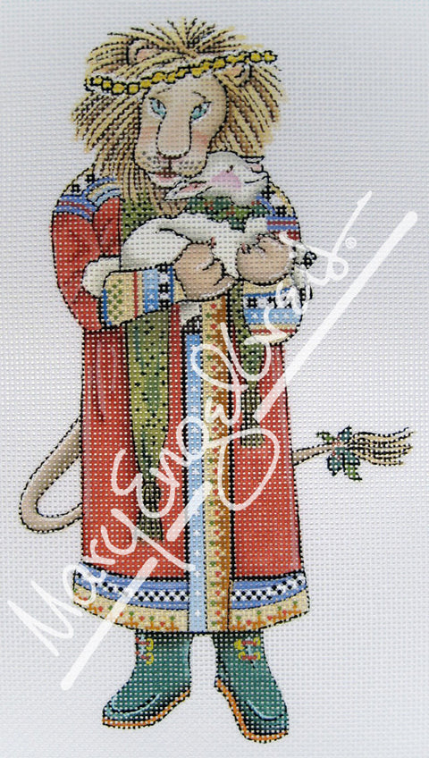 Needlepoint Canvas: Peace Lion and Lamb
