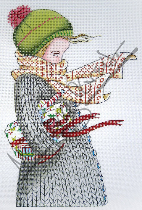 Needlepoint Canvas: Chilly Christmas