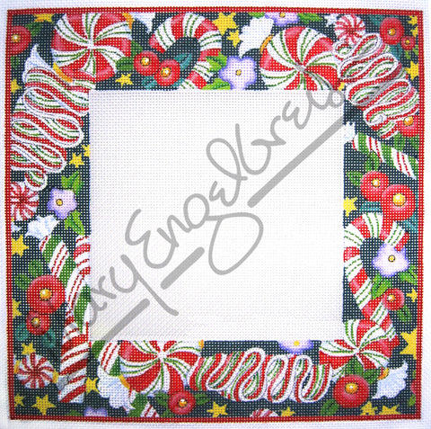 Needlepoint Canvas: Christmas Candy Frame
