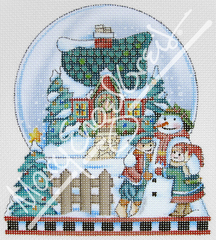 Needlepoint Canvas: Peace Snowglobe