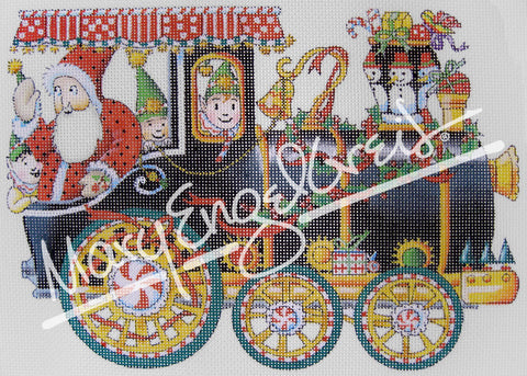 Needlepoint Canvas: Toyland Engine