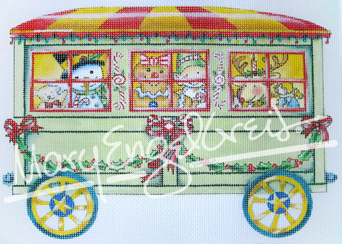 Needlepoint Canvas: Toyland Passenger