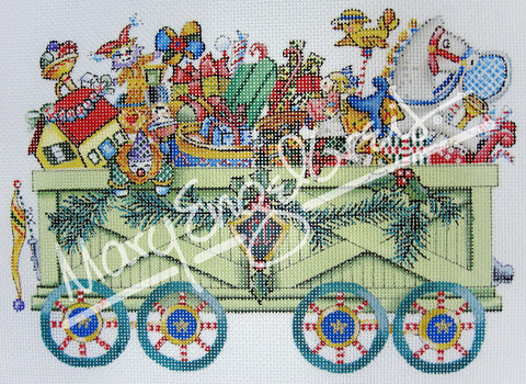 Needlepoint Canvas: Toyland Open Box
