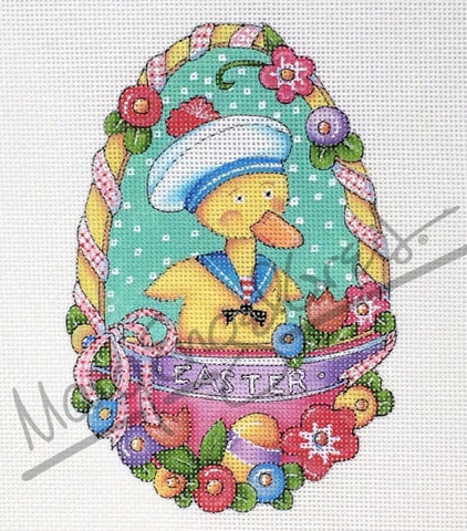 Needlepoint Canvas: Duck Egg