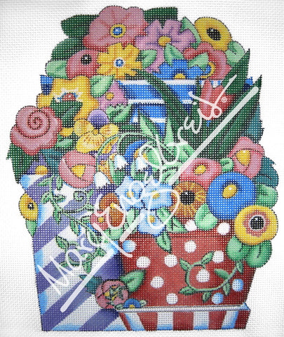 Needlepoint Canvas: Floral Sunshine