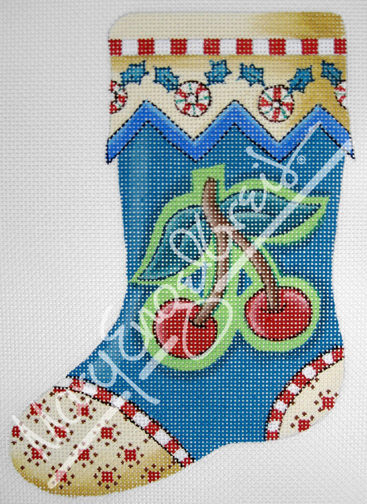 needlepoint canvas stocking cherry large