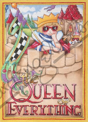 Needlepoint Canvas: Queen of Everything