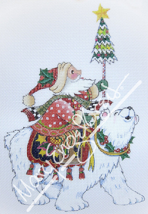 Needlepoint Canvas: Polar Santa
