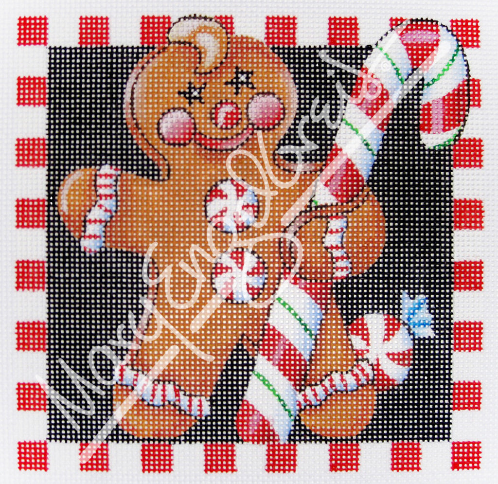 Needlepoint Canvas: Gingerbread