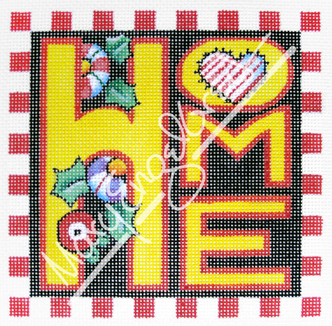 Needlepoint Canvas: Home
