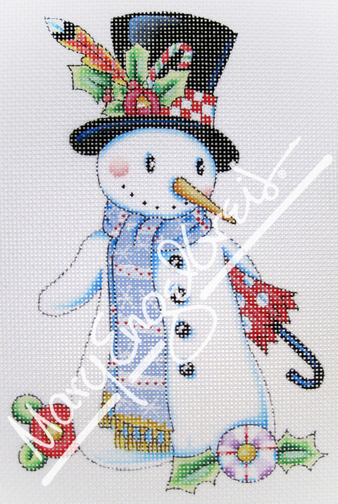 Needlepoint Canvas: Let it Snow Man 1