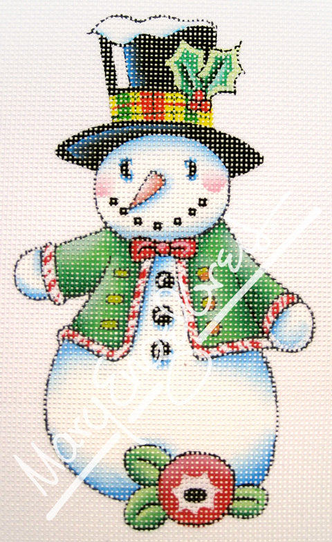 Needlepoint Canvas: Let It Snow Man 2