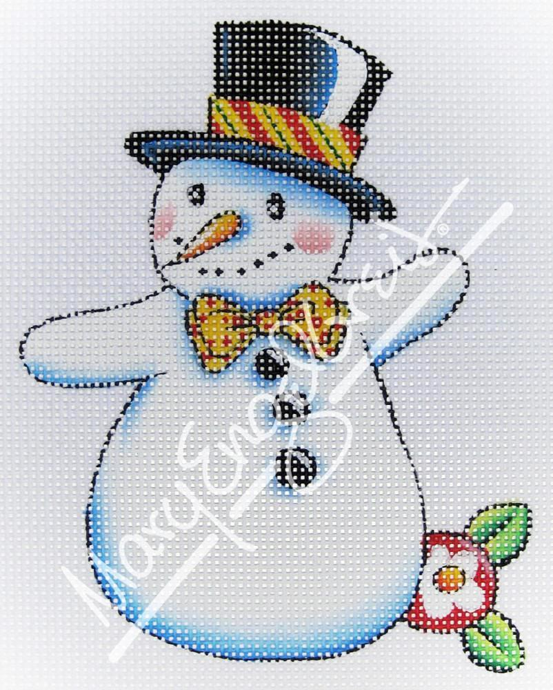 Needlepoint Canvas: Let It Snow Man 3
