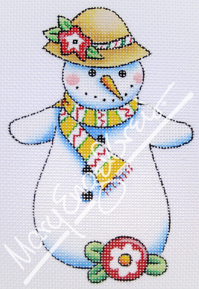 Needlepoint Canvas: Let It Snow Lady 4