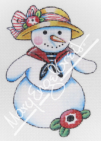 Needlepoint Canvas: Let It Snow Lady 5