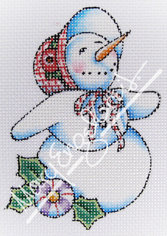 Needlepoint Canvas: Let It Snow Lady 6