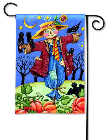 Moonlight Scarecrow Garden Flag