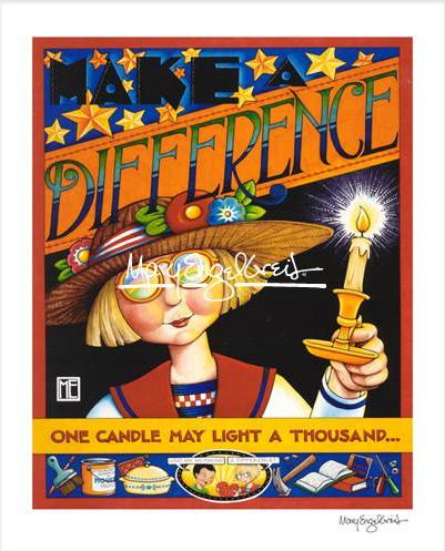 """Make a Difference"" Print"