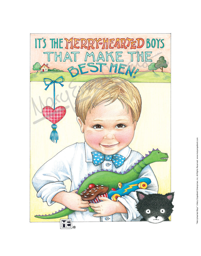 Merry-Hearted Boys Fine Print