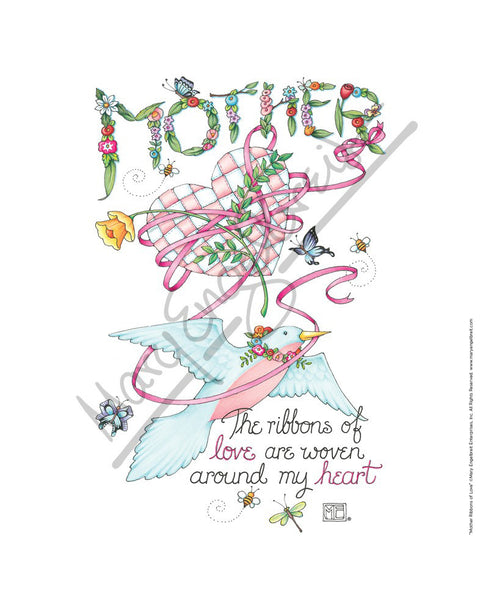 Mother Ribbons Fine Print
