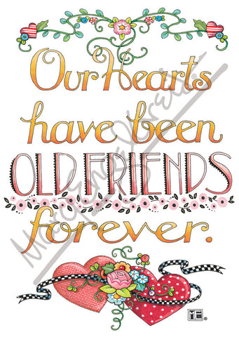 Our Hearts Old Friends Magnet