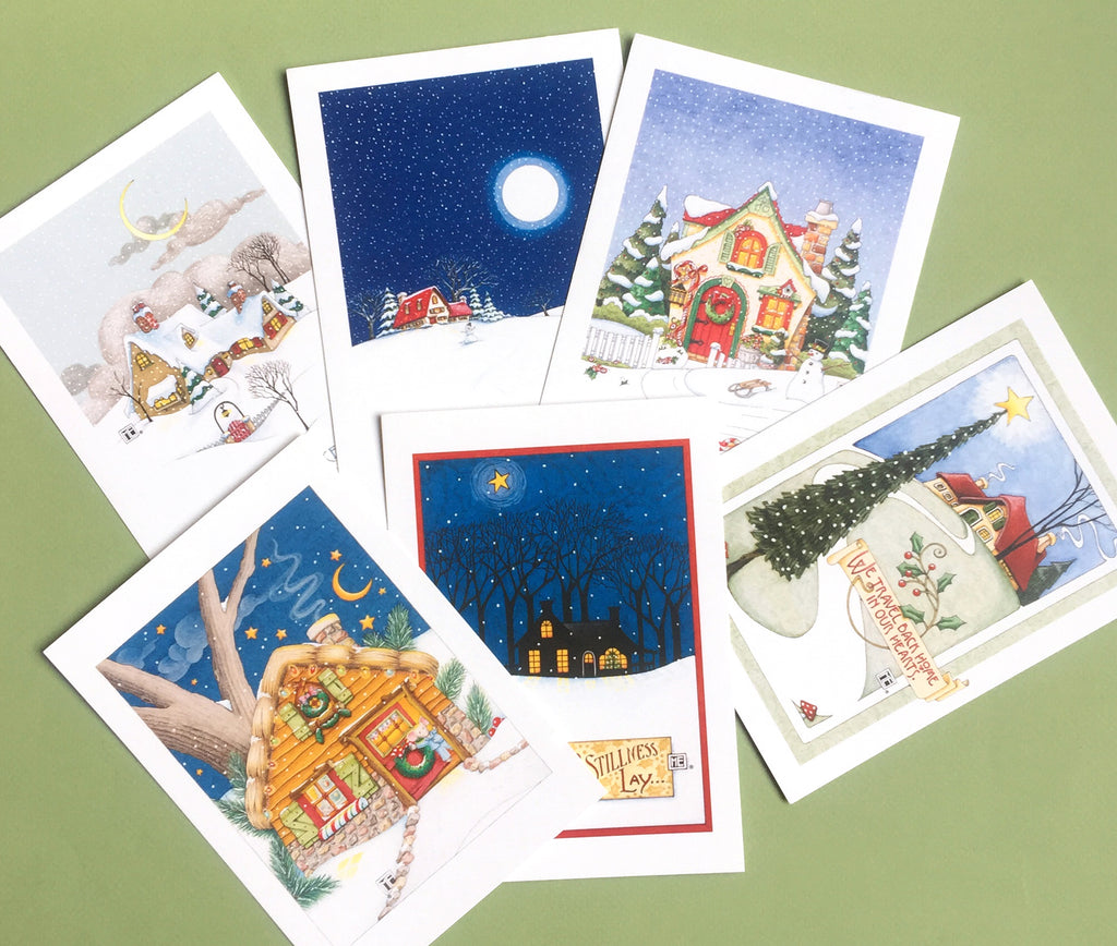 Christmas Cottages Postcards