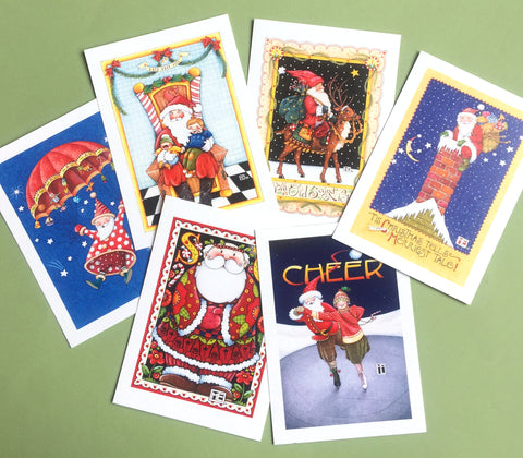 Christmas Santas Postcards