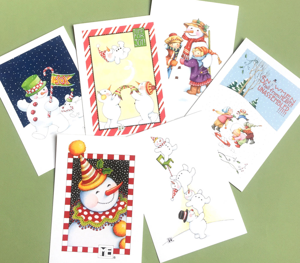 Christmas Snowpeople Postcards
