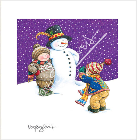 Picture With Snowman Limited Edition Print