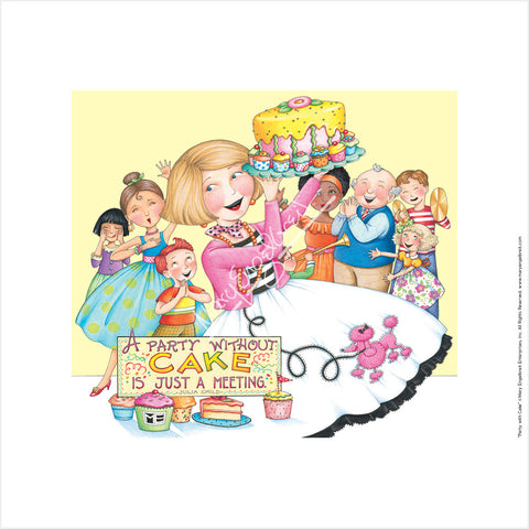 Party with Cake Fine Art Print
